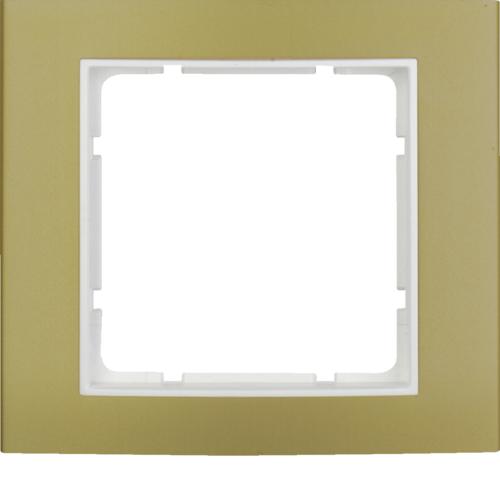 金色金属/极白色边框