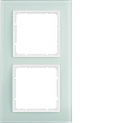10126909 纯白色玻璃边框